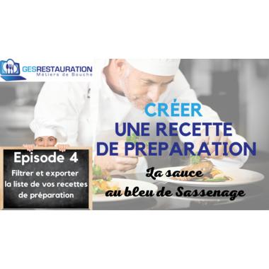 Créer une préparation - La sauce au bleu de Sassenage - Episode 4 /11
